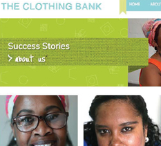 The Clothing Bank Website