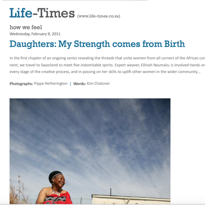 Daughters: My strength comes from birth